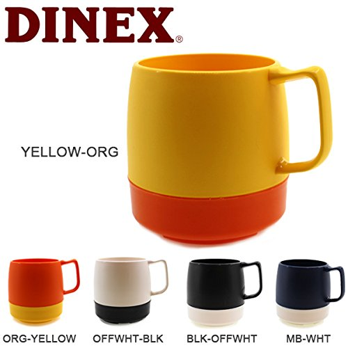 (ダイネックス)DINEX dinex-005 アウトドア マグカップ 8oz. MUG 2-TONE ORG-YELLOW