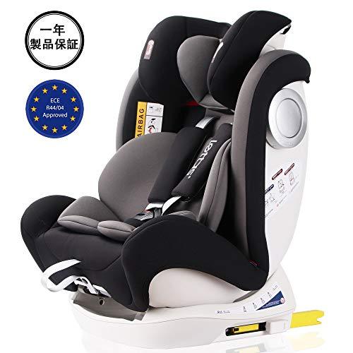 LETTAS チャイルドシート 新生児~12歳頃 (0~36kg) ISOFIX対応 シートベルト固定 一年保証 ブラック