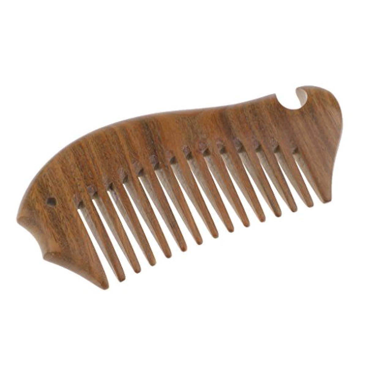 敬な砂の暗殺Toygogo ポケットサンダルウッドワイドトゥースコーム-ロング/ウェット/カーリー用ウッドヘアブラシは、脱毛とふけを減らす
