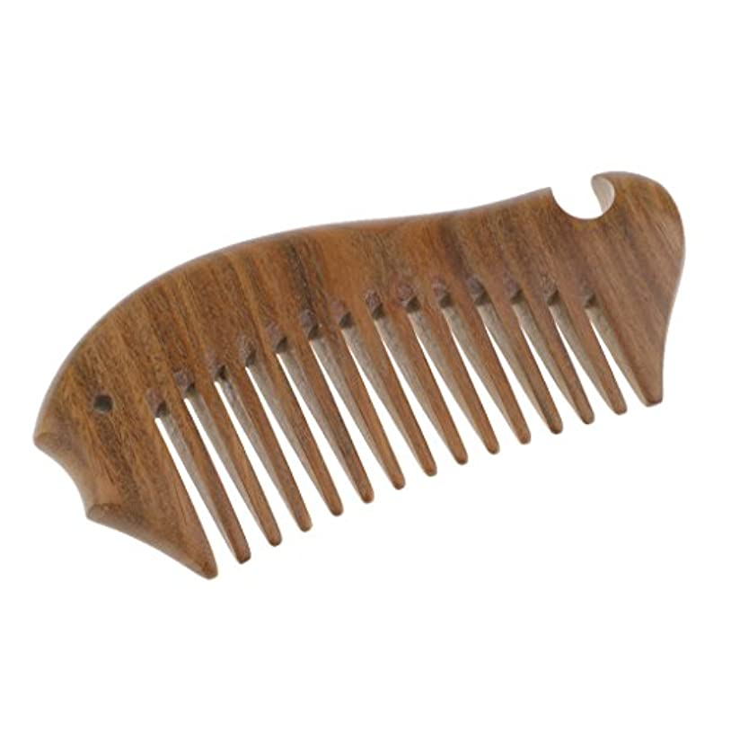 華氏句読点ホームToygogo ポケットサンダルウッドワイドトゥースコーム-ロング/ウェット/カーリー用ウッドヘアブラシは、脱毛とふけを減らす