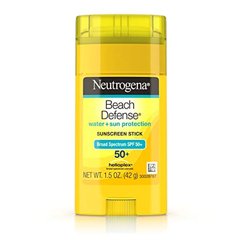 アクティブ生より多いNeutrogena Sunscreen Beach Defense Sunblock Stick SPF 50, 1.5 Ounce