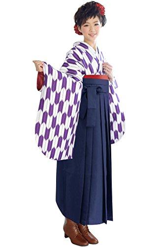 (Kyouetsu)KYOETSU时尚的2英尺套筒和服平原袴3点集合L尺寸箭羽/ Yagasuri(和服/袴/袴缠)