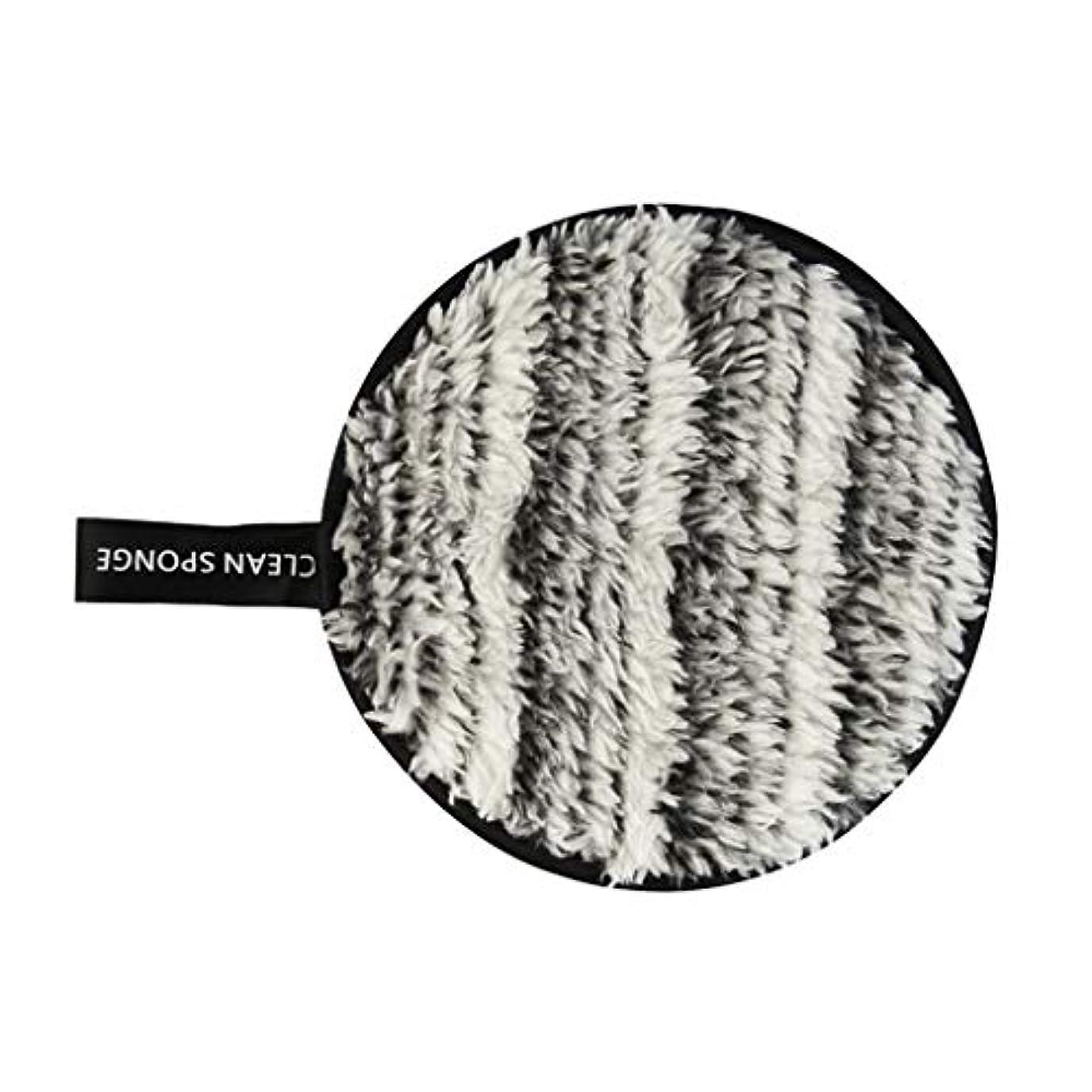 政権リムクレーンF Fityle フェイススポンジ クリーニングパフ 再利用可能 化粧落としパッド 全6色 - 黒+白