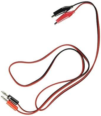 SODIAL(R) 90cm3フィートプラグ プローブケーブルテストのワニ口クリップ