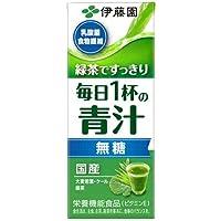 [旧品番]伊藤園 緑茶ですっきり 毎日1杯の青汁 無糖 200ml 紙パック 24本入×3まとめ買い