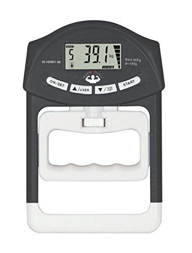 【電池付き】 マッスルプロジェクト デジタル握力計 【前回の記録と分かり易い...