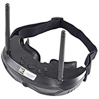 RC Logger FPV Goggles with 30° Field of High Resolution Vision Widescreen with Picture-in-Picture (PiP) function Diversity Receiver and ultra-lightweight design [並行輸入品]