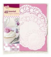 48 Assorted Paper Doilies by Queen Of Cakes