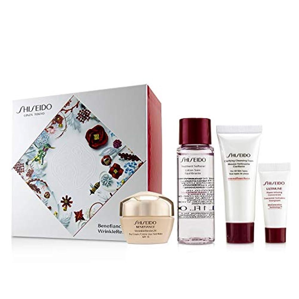 物理平和なランチョン資生堂 Benefiance WrinkleResist24 Set : Day Cream SPF15 50ml+Cleansing Foam 15ml+Softener 30ml+Ultimune Concentrate...