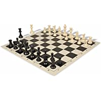 Value Club Plastic Chess Set & Board with Black & Ivory Pieces - Black by The Chess Store [並行輸入品]