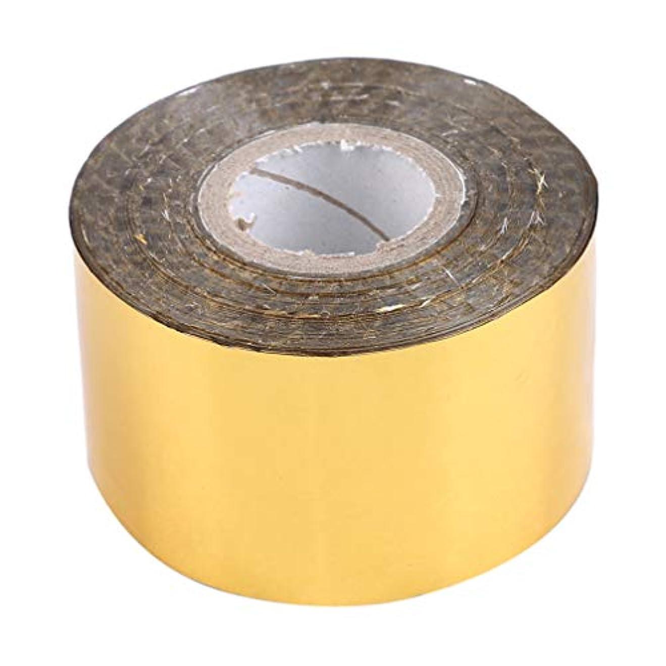 調停する思想動詞LJSLYJ 4センチ* 120メートルホログラフィックロール星空ネイル箔ストライプネイルアート転送ステッカー、ゴールド