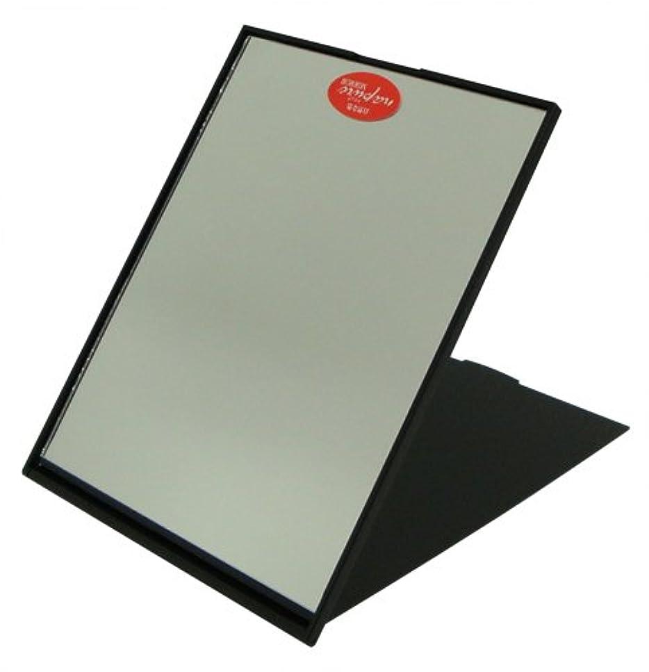偽物苦しみ広告主ナピュア スリム&ライトコンパクトミラー(L) NA-19 メタリックブラック