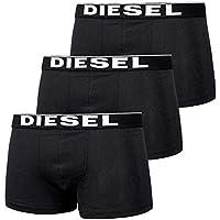 DIESEL(ディーゼル) メンズボクサーパンツ/3枚組 THE ESSENTIAL_UMBX-KORY 3 PACK BOXER TRUNK (ブラック) [並行輸入品]
