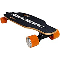 Swagboard NG-1 NextGen Electric Boosted Longboard - Motorized Electric Skateboard with Wireless Remote - Board Rider Weight Up To 176 Lbs by Swagtron