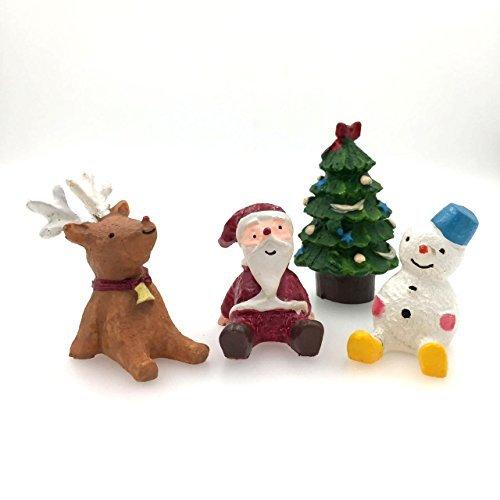 ceciI 4pcs-set、クリエイティブ装飾品、Microホーム装飾、もfor the Flower Pot Decorate ( Includingサンタクロース* 1、Elk * 1、クリスマスツリー* 1、雪だるま* 1) CECII