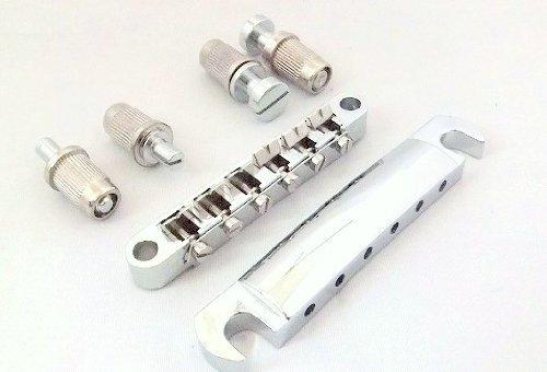 【ノーブランド品】 ブリッジ & テールピース チューンOマチック ギターパーツ レスポール SG 汎用 (シルバー)