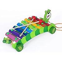 幼児期のゲーム 教育玩具木製キャタピラーノックピアノは、おもちゃに沿??ってプル