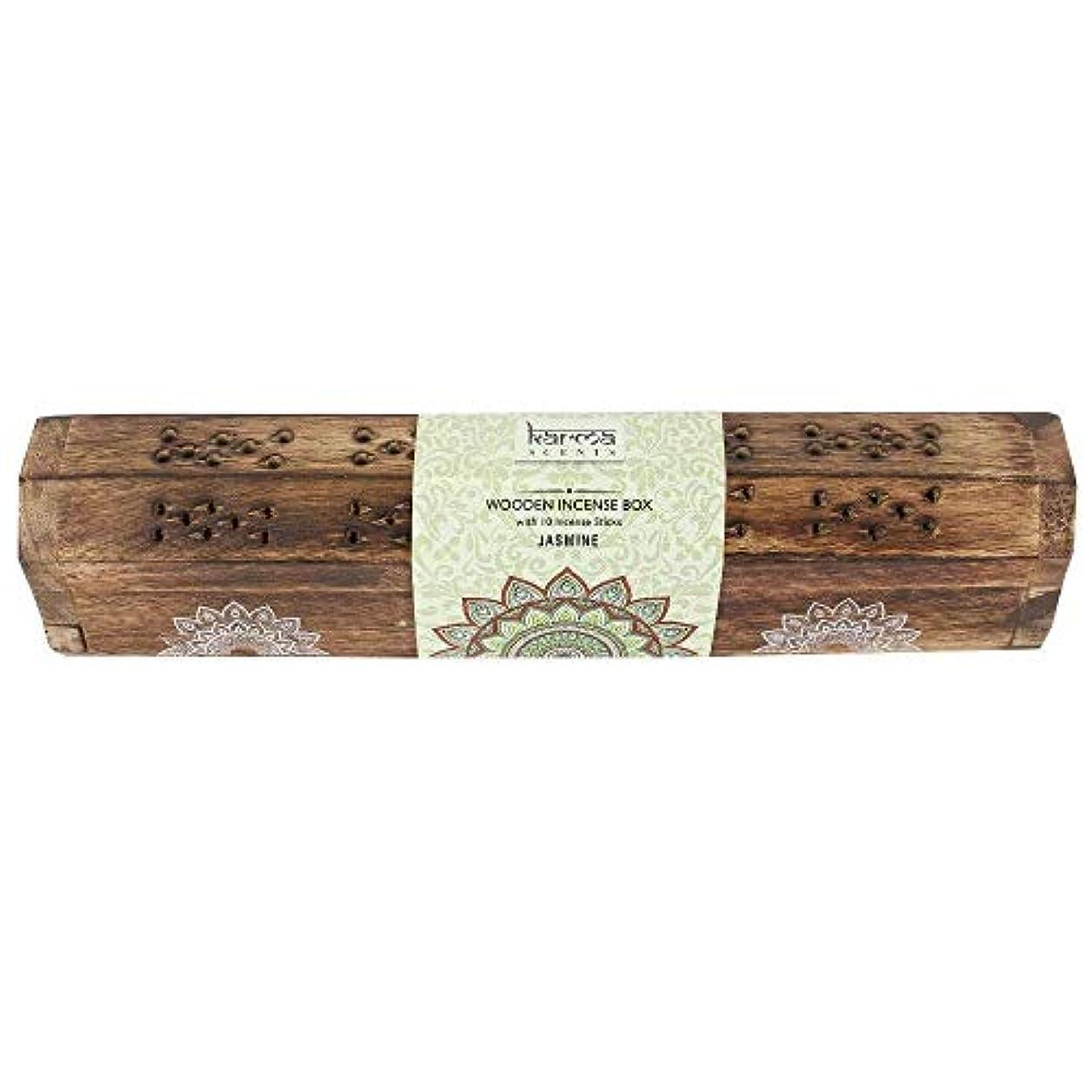 ベスト少数治療Karma Jasmine Incense Wooden Set