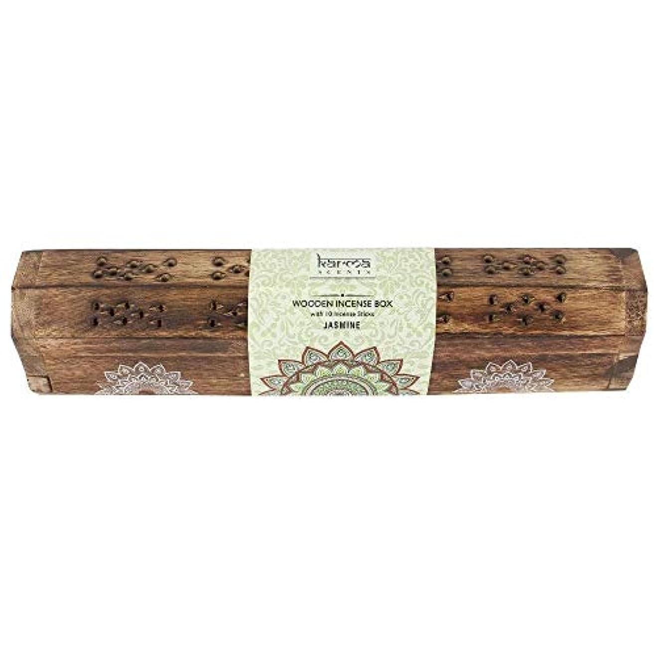 インフレーション備品哲学的Karma Jasmine Incense Wooden Set
