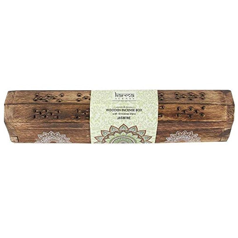 コード俳句道徳教育Karma Jasmine Incense Wooden Set