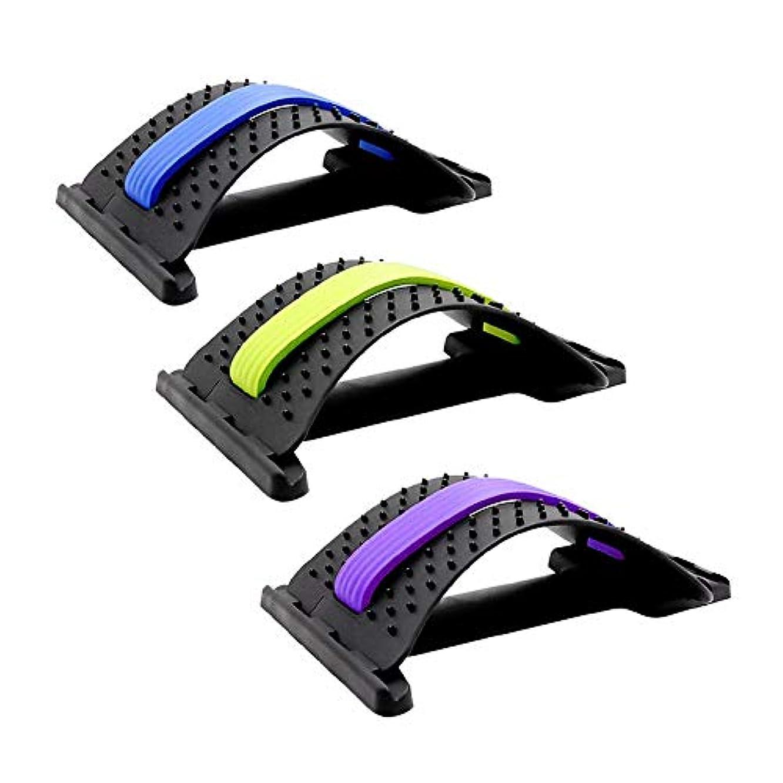蒸荒廃する満員背部伸張装置のマッサージャーの魔法の伸張器の適性の腰部サポート弛緩の脊柱の苦痛救助のコレクターのヘルスケア1pcs (紫)