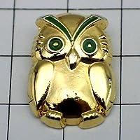 限定 レア ピンバッジ フクロウ鳥ふくろう金色の梟 ピンズ フランス