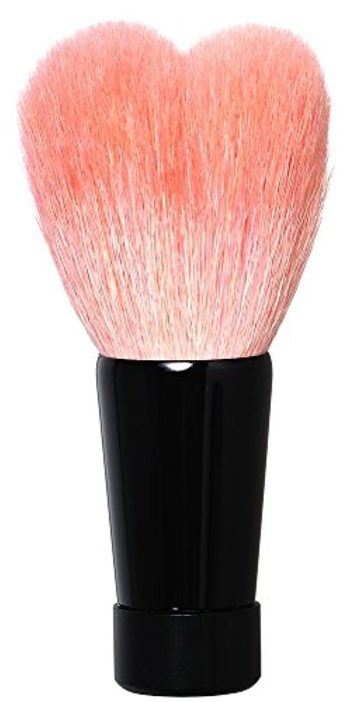 寄付するトライアスロン破産熊野筆 ハート型洗顔ブラシ(中?ブラック軸) KOYUDO Collection