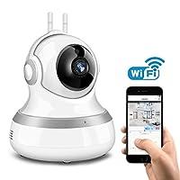 ネットワークカメラ EIVOTOR 防犯カメラ WIFI ベビーモニター 1080P 200万画素 ワイヤレス監視カメラ 高画質 暗視撮影 双方向音声 動体検知機能 防犯 監視 介護 ペット留守番 ホワイト 一年保証&電子版日本語説明書