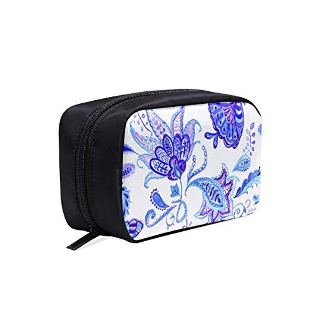 流体ご近所中古JKDLER メイクポーチ 染付の磁器の模様 ボックス コスメ収納 化粧品収納ケース 大容量 収納 化粧品入れ 化粧バッグ 旅行用 メイクブラシバッグ 化粧箱 持ち運び便利 プロ用