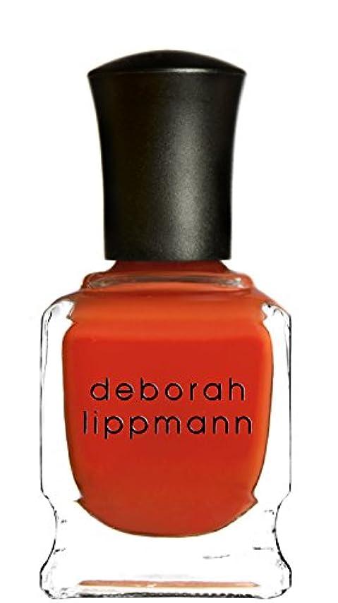 掃く風編集者[Deborah Lippmann] デボラリップマン DON'T STOP BELIEVIN' ドント ストップ ビリービン 色:レッドオレンジ ネイルカラー系統:赤 15mL