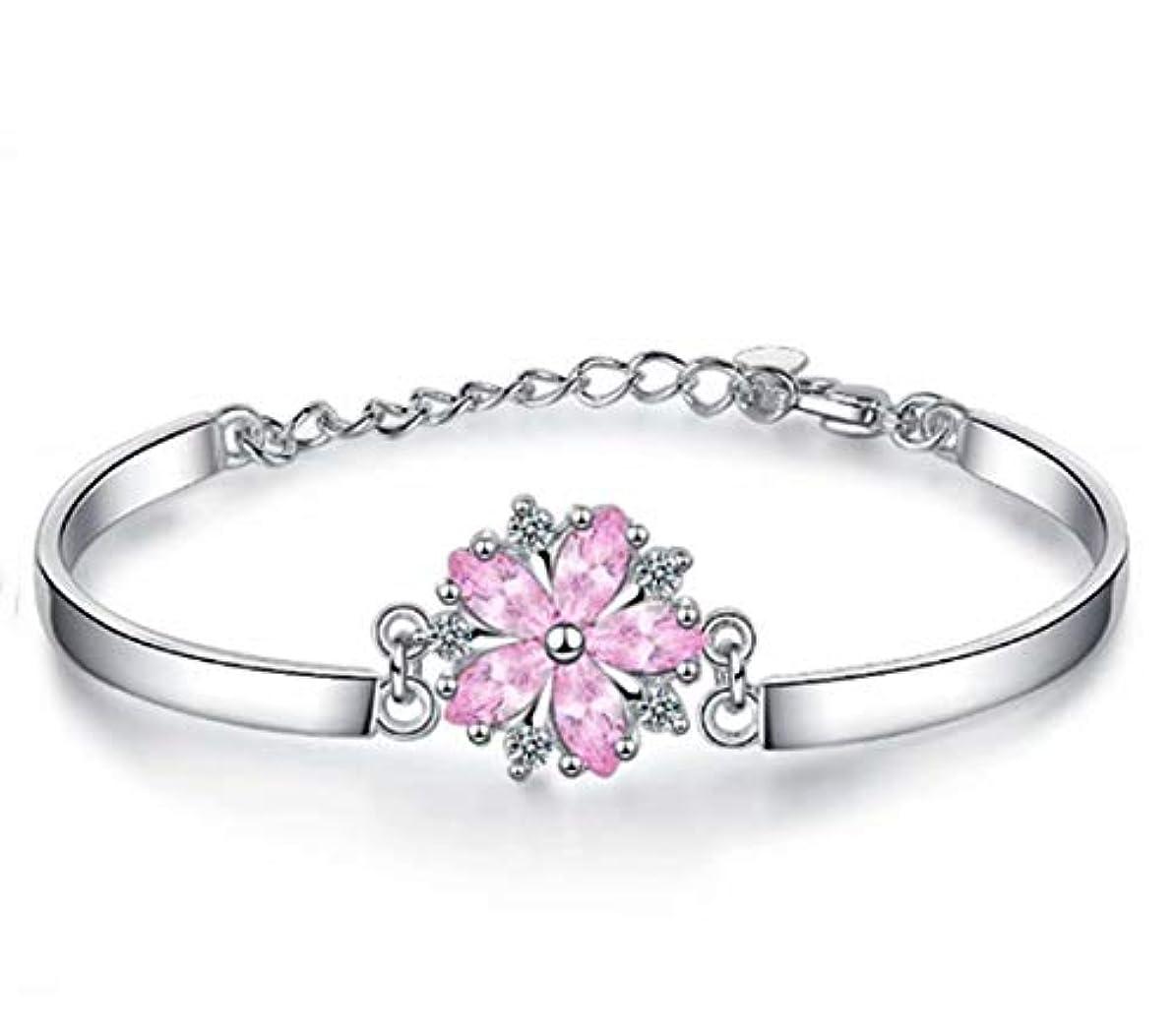 一時停止保証締める七里の香 サクラブレスレットレディース フラワー 桜の花 ピンク腕輪 バングル 花びら ギフト 長さ調整可