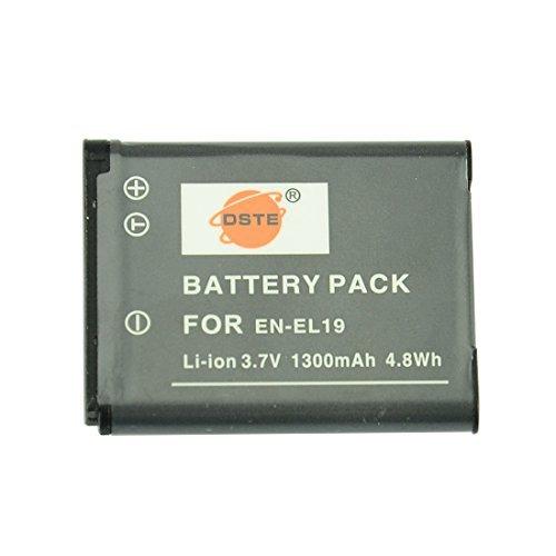 DSTE® アクセサリ Nikon EN-EL19 互換 カメラ バッテリー  対応機種 Coolpix S3100 S3200 S3400 S3500 S4300 S4400 S5200 S6500 S6600