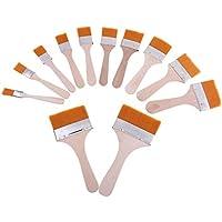 Perfk 12個 BGAフラックスペーストブラシ モデル接着剤 塗料ブラシ ペイントブラシ DIYツール