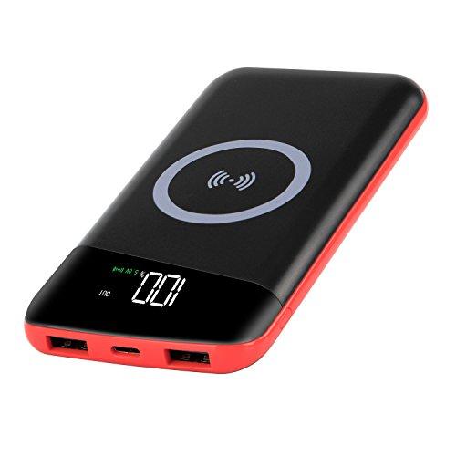 RuiPu[改良版]モバイルバッテリー qi 充電器 ワイヤ...