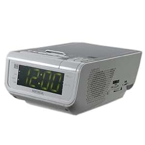 WINTECH CDクロックラジオ CDC-210 W ホワイト USB充電機能付 CDC-210W