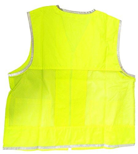 サンエス技研 安全対策 セーフティ 新蛍光ベスト 蛍光レモン GS125