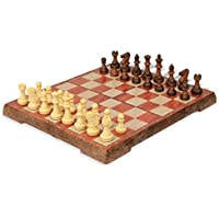 The Chess Store Rosewood Color Folding Magnetic Travel Chess Set - 14