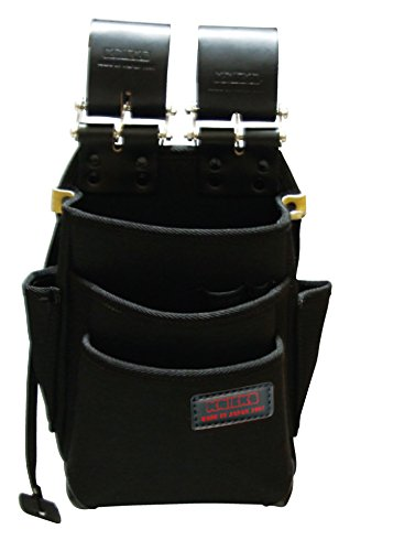 ニックス チェーン式特殊ナイロン製腰袋(自在型)(ブラック) KB-212NSDX