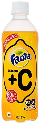 コカ・コーラ ファンタ レモン+C PET 500ml×24本
