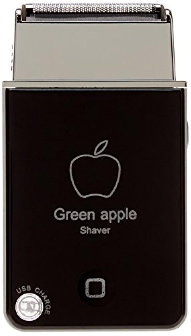 トチの実の木入浴インセンティブVB グリーンアップル電気シェーバーShaver USB充電式トラベルカミソリBlack(ブラック)