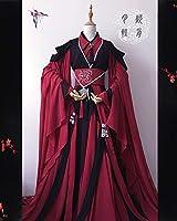 新品/Cosplay 男女通用 コスプレ キャラクター 赤色 四点セット オーダー製作 漢服 オリジナル cos 中華風