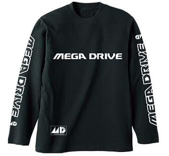 メガドライブ メガドライブ リブなしロングスリーブTシャツ ブラック Lサイズ