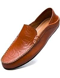 [MCICI] ローファー スリップオン ドライビングシューズ メンズ 本革 デッキシューズ 軽量 モカシン 靴 カジュアルシューズ 2種履き方 手作り 紳士靴 ビジネスシューズ ローカット職場用 スリッポン 大きなサイズ
