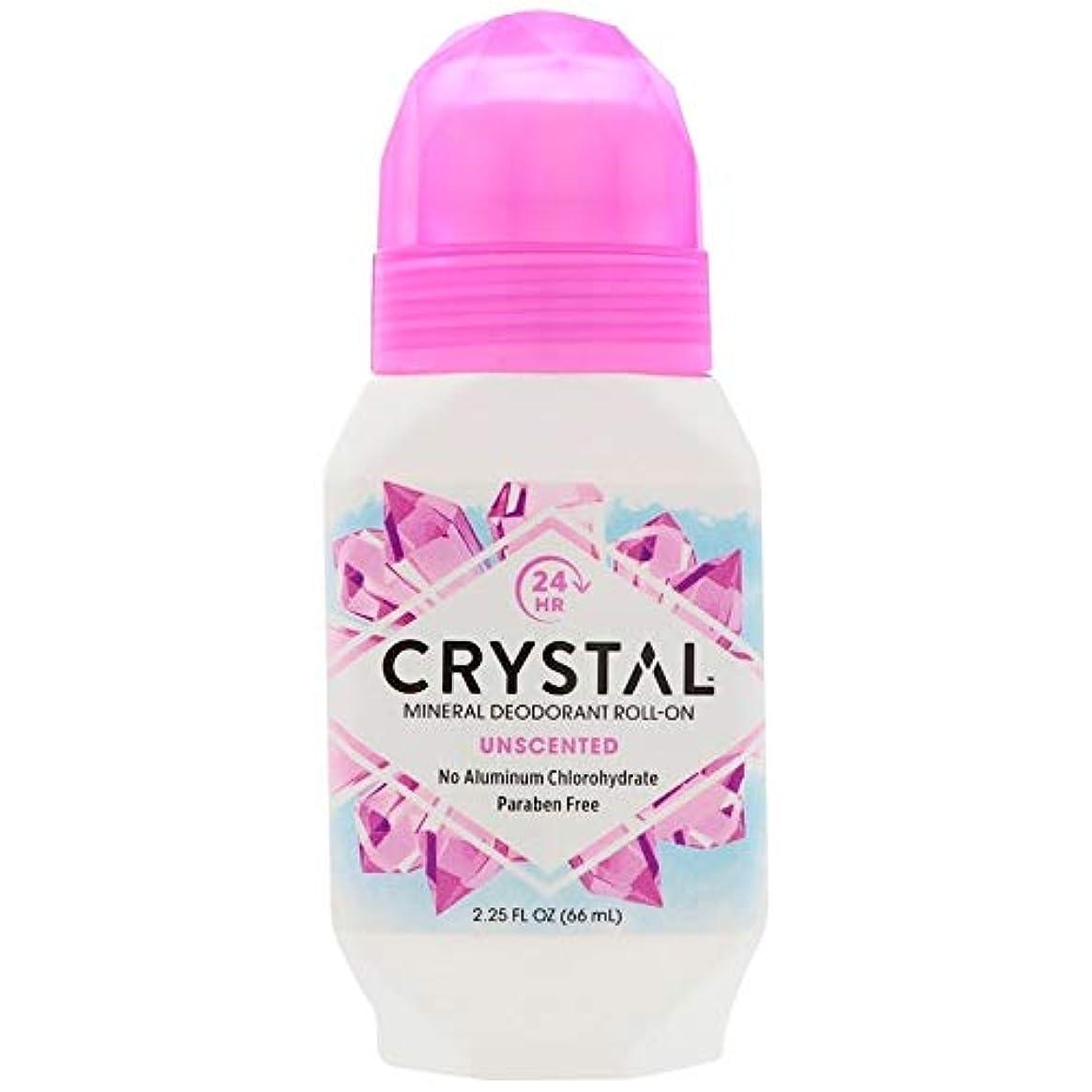 増幅水っぽい染色クリスタルデオドラント ロールオンタイプ無香料2.25オンスX 4 パック[並行輸入品]
