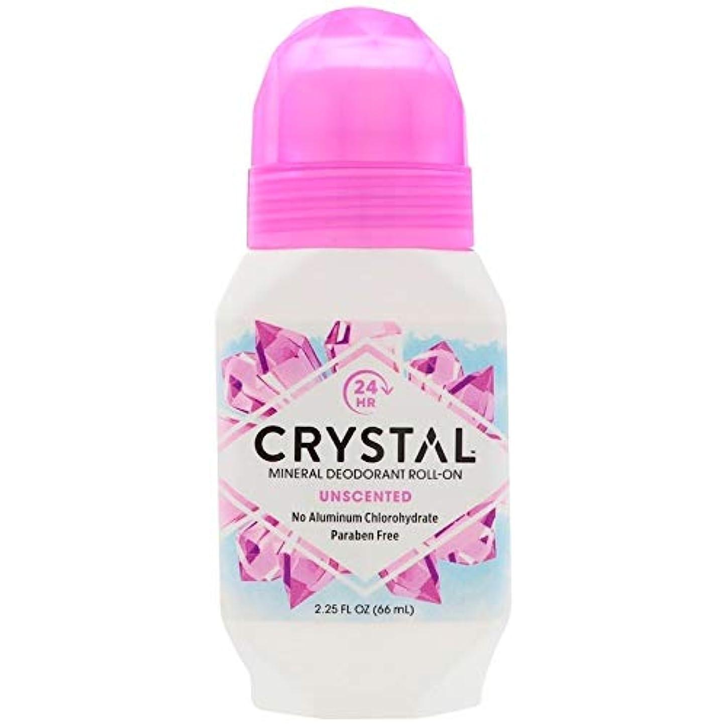 苦行存在するアウトドアCrystal ミネラルボディデオドラントロールオン、無香料2.25オンスX 2 パック(並行輸入品)
