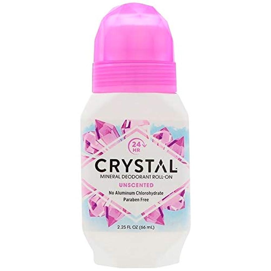 着るレバー抵抗するCrystal ミネラルボディデオドラントロールオン、無香料2.25オンスX 2 パック(並行輸入品)
