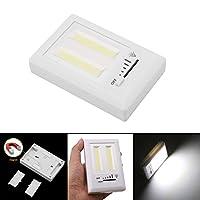 yrled磁気Mini COB LEDコードレスランプ調光機能付き壁ナイトライト電池式キッチンキャビネットガレージ緊急ライトwithスライドスイッチ