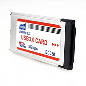 GMYLE(TM) ExpressCard 34mm USB3.0増設インターフェースカード (2ポート搭載)