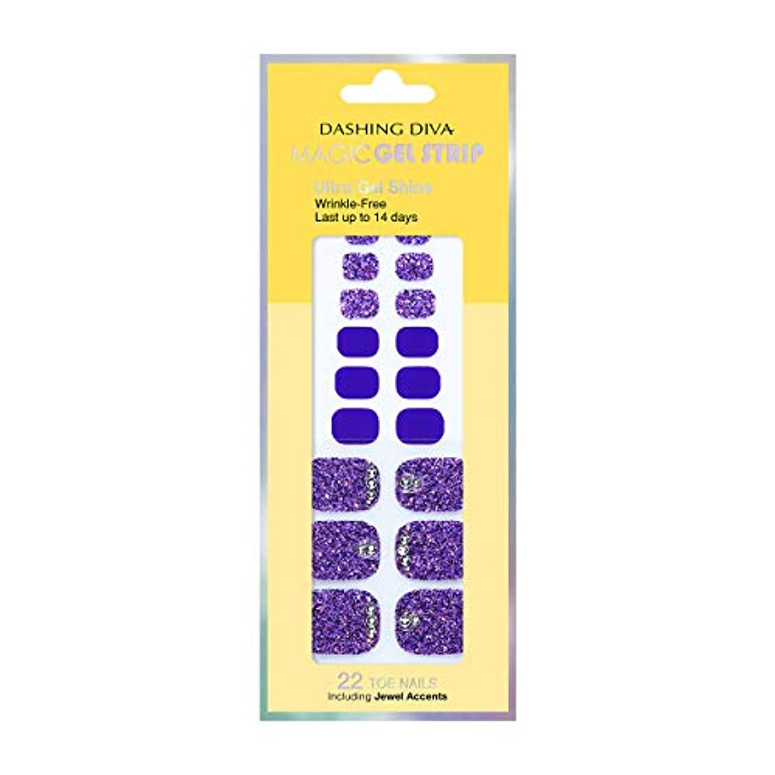 エンティティ海洋の測定可能ダッシングディバ マジックジェルストリップ DASHING DIVA Magic Gel Strip DGST77P-DURY+ オリジナルジェル ネイルシール Bling-jewel Sparkle Purple