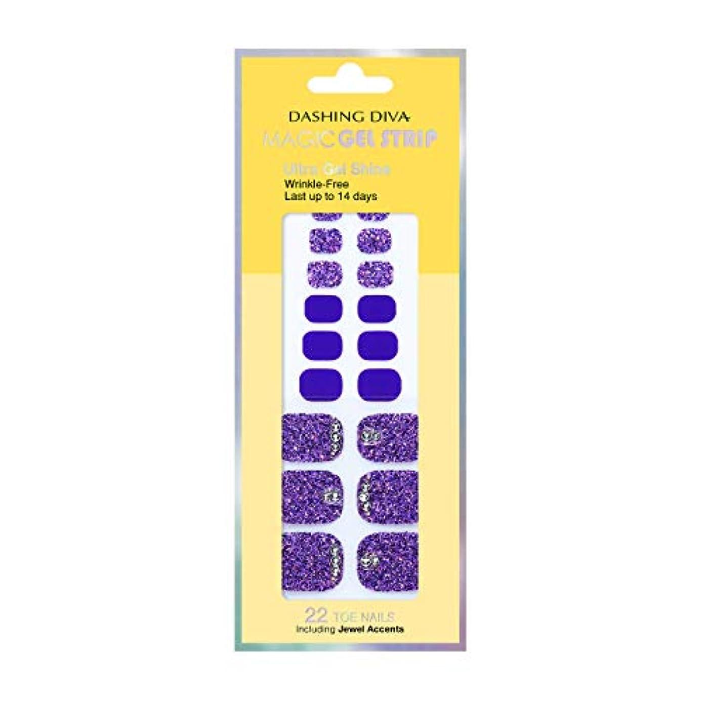 バター君主ディレイダッシングディバ マジックジェルストリップ DASHING DIVA Magic Gel Strip DGST77P-DURY+ オリジナルジェル ネイルシール Bling-jewel Sparkle Purple